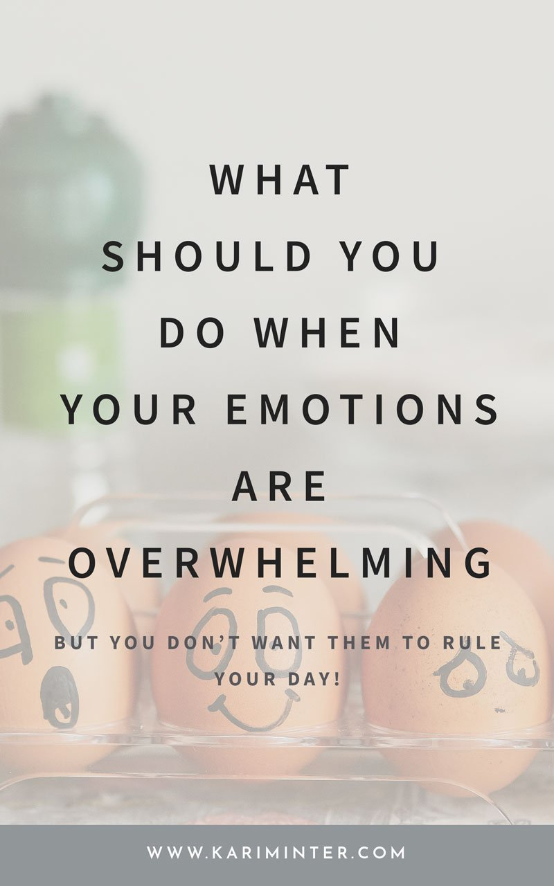 How to deal with overwhelming emotions